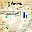 My first attempt at real-time graphic recording: The 2012 State of the Union