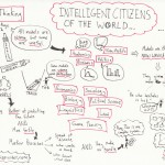 "This image depicts content from the lecture titled ""Intelligent Citizens of the World"" from the Model Thinking course."
