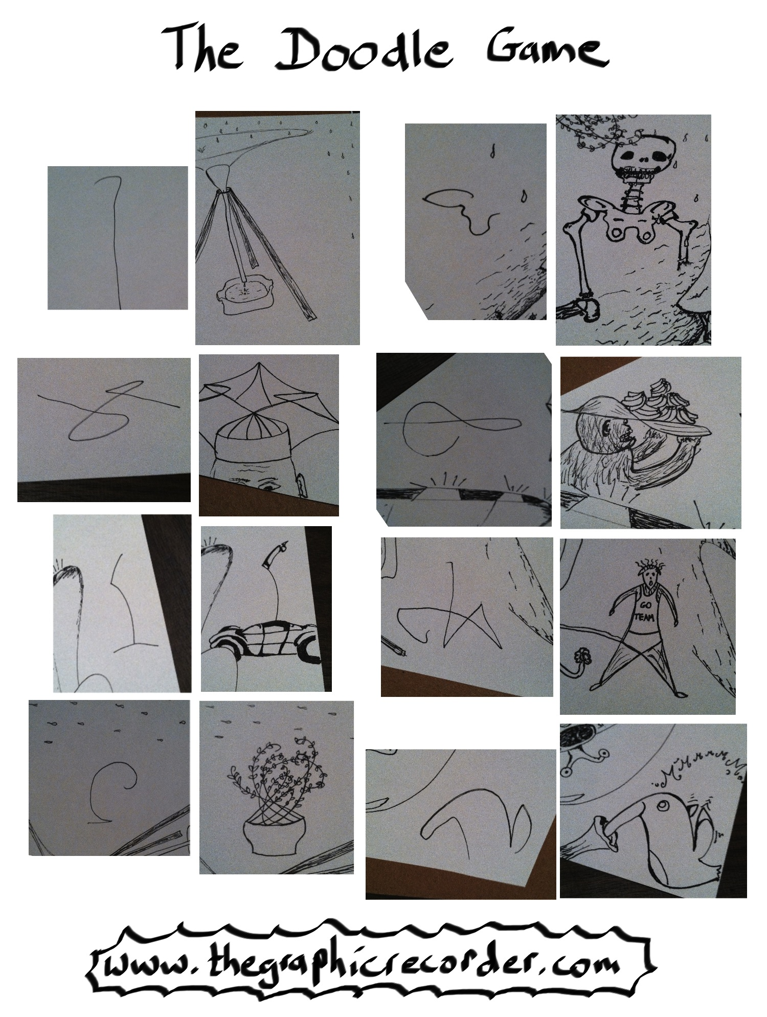Here are a few before and after pictures from one round of the doodle game