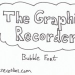 The Graphic Recorder - Visual Vocabulary - Title Fonts - Bubble Font