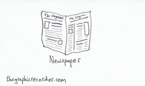 The Graphic Recorder - Visual Vocabulary - Things to Read - Newspaper