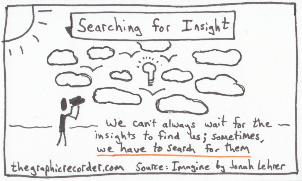 The Graphic Recorder - One Card One Concept - Searching for Insight - Jonah Lehrer - Imagine