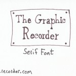 The Graphic Recorder - Visual Vocabulary - Title Fonts - Serif Font