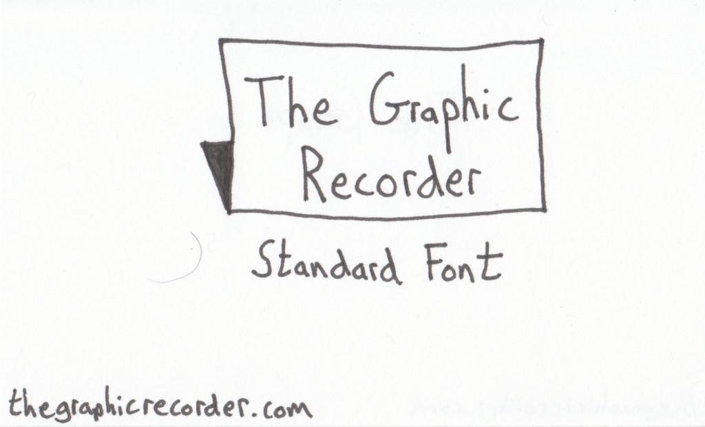 The Graphic Recorder - Visual Vocabulary - Title Fonts - Standard Font