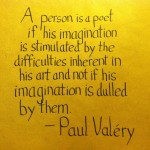 The Graphic Recorder - Handwritten Quotes - Paul Valery - Stimulated by Difficulties