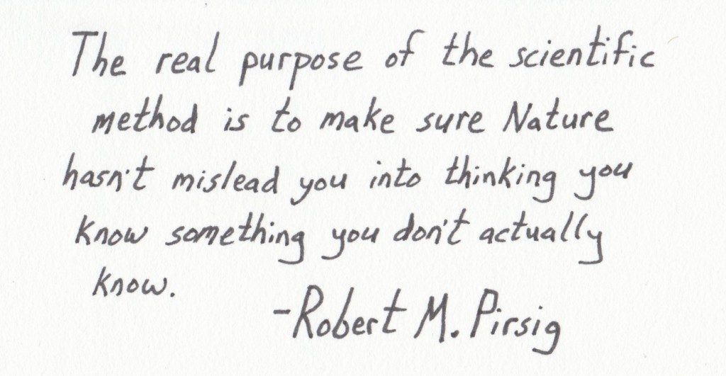 The Graphic Recorder - Handwritten Quotes - Robert M. Pirsig - The Real Purpose of the Scientific Method