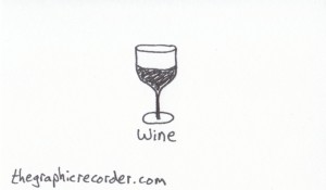 The Graphic Recorder - Visual Vocabulary - Delicious Drinks - Wine