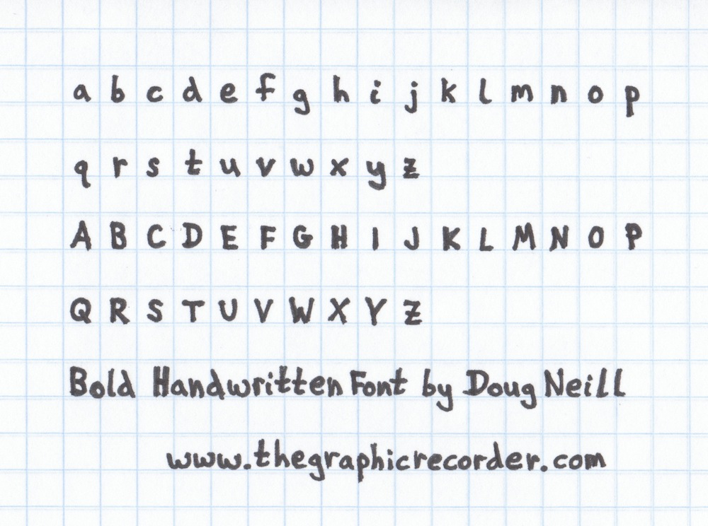 The Graphic Recorder - Doug Neill Sketchnotes - Bold Handwritten Font