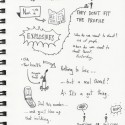 Sketchnotes of Radiolab Podcast: Grumpy Old Terrorists