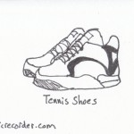 The Graphic Recorder - Visual Vocabulary - Footwear - Tennis Shoes
