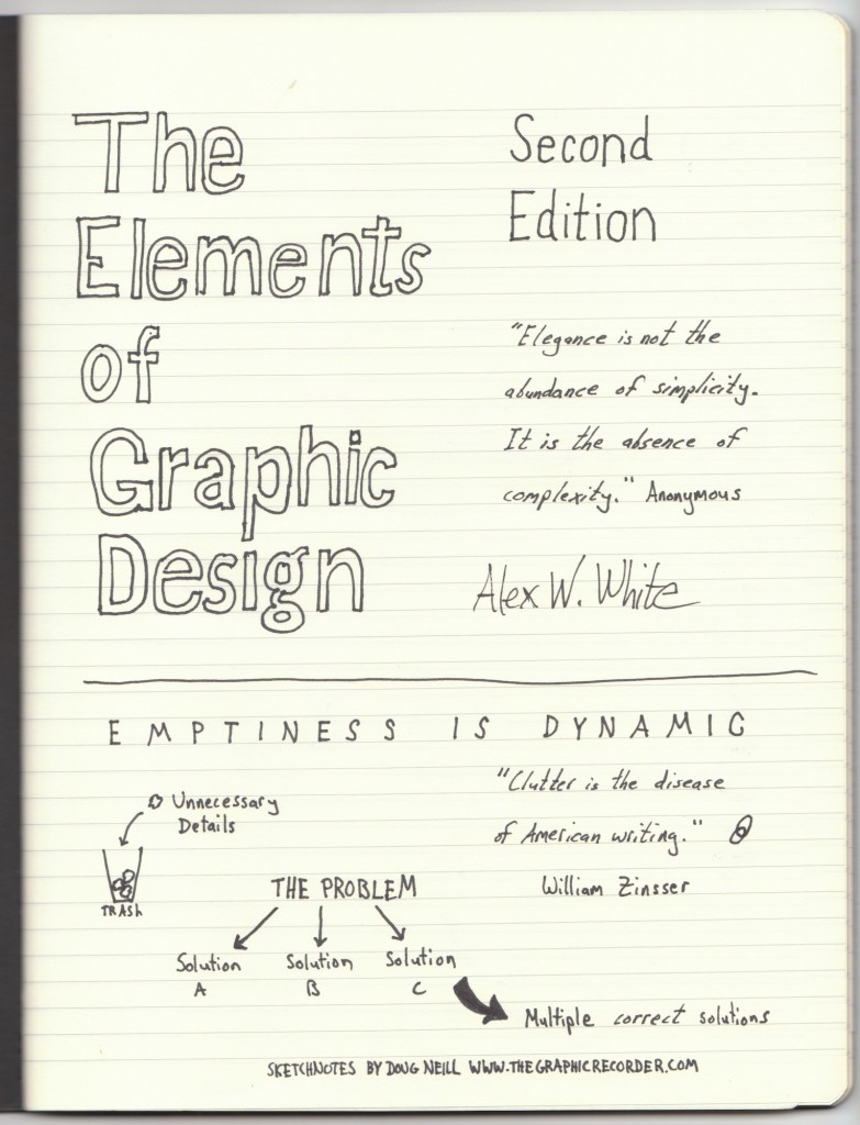 The Graphic Recorder - Doug Neill Sketchnotes - The Elements of Graphic Design - Preface (1) - Alex W. White