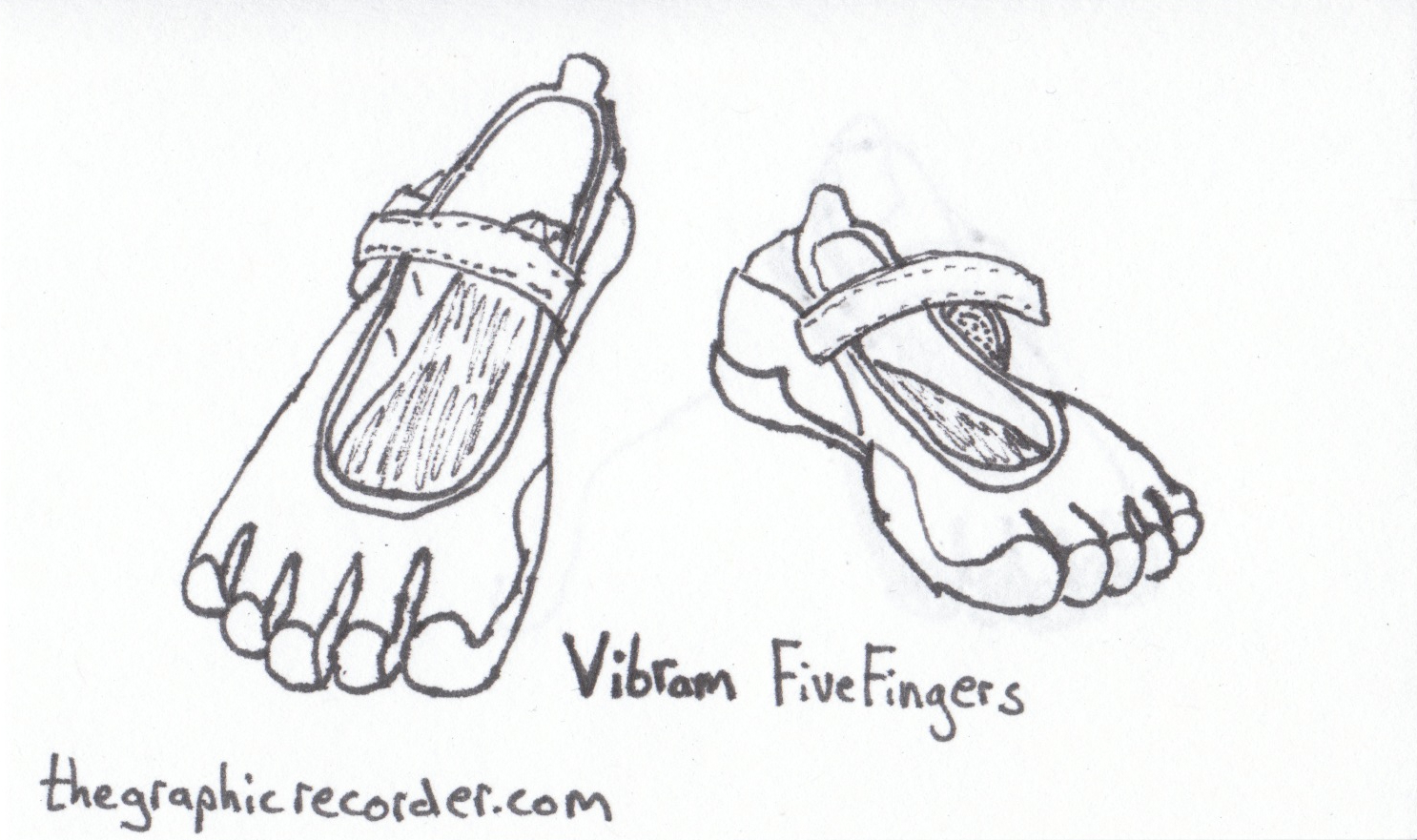 The Graphic Recorder - Visual Vocabulary - Footwear - Vibram Five Fingers