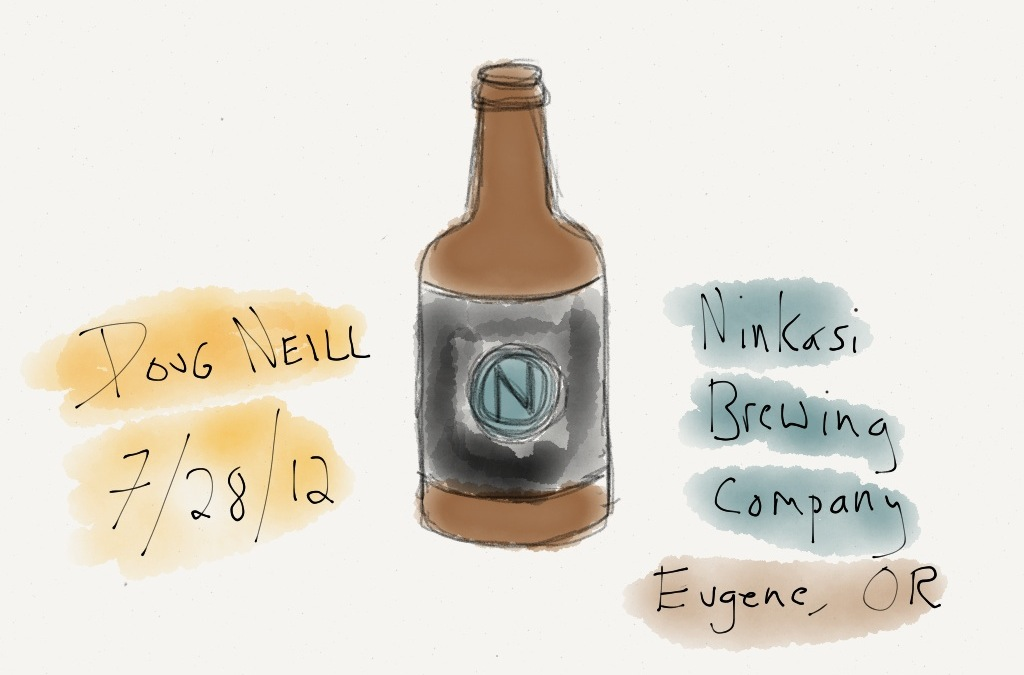 The Graphic Recorder - Doug Neill - Ninkasi Beer Sketch - Ninkasi Brewing Company - Eugene Oregon