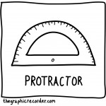 The Graphic Recorder - Visual Vocabulary - Math Toolbox - Protractor