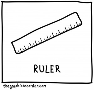 The Graphic Recorder - Visual Vocabulary - Math Toolbox - Ruler