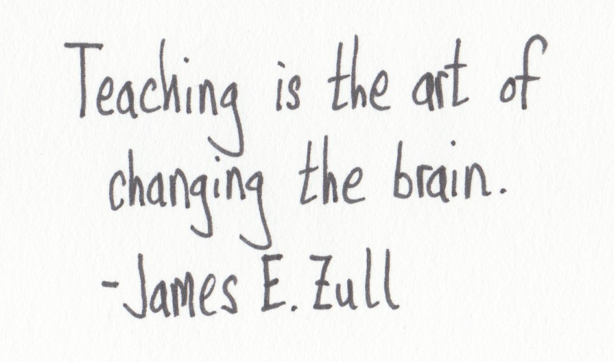 The Graphic Recorder - Handwritten Quotes - James E. Zull - Teaching is the art of changing the brain