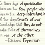 The Graphic Recorder - Handwritten Quotes - Richard Feynman - These Days of Specialization