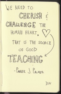 The Graphic Recorder - Doug Neill Sketchnotes - The Courage to Teach - Parker J Palmer - Intro (10) Cherish and Challenge the Heart