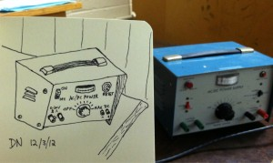 The Graphic Recorder - Doug Neill Sketch - Sketching while Subbing - Power Supply