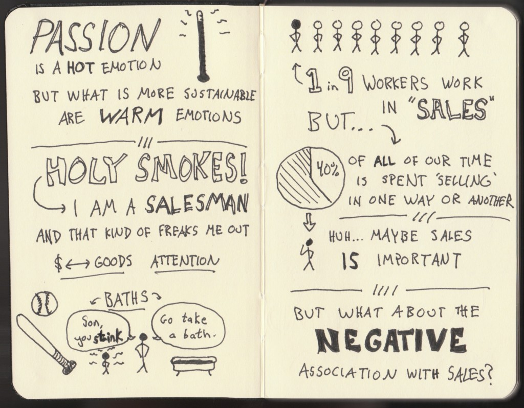 Sketchnotes of Good Life Project Interview - Dan Pink (2) - Jonathan Fields - Doug Neil Sketchnotes - The Graphic Recorder