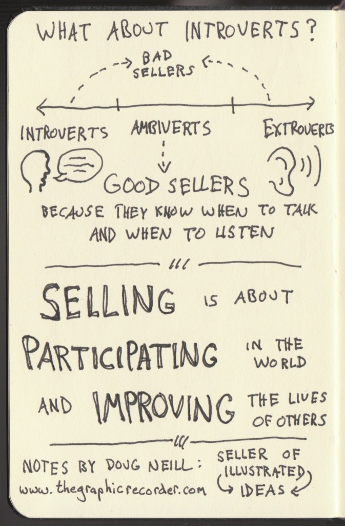 Sketchnotes of Good Life Project Interview - Dan Pink (4) - Jonathan Fields - Doug Neil Sketchnotes - The Graphic Recorder