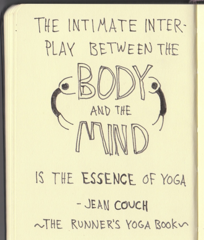 The Graphic Recorder - Doug Neill - Handwritten Quotes - The intimate interplay between the body and the mind is the essence of yoga. - Jean Couch