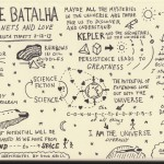 On Being Sketchnotes Natalie Batalha - Krista Tippett - Doug Neill - kepler, astronomy, science, universe, rainbows, ecstasy, discovery, exoplanets and love