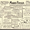 Sketchnotes of Brain Pickings&#8217; Maria Popova on Design Matters with Debbie Millman