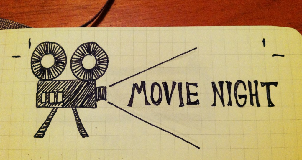 Movie Night Title Illustration - The Sketchnote Skill Builder