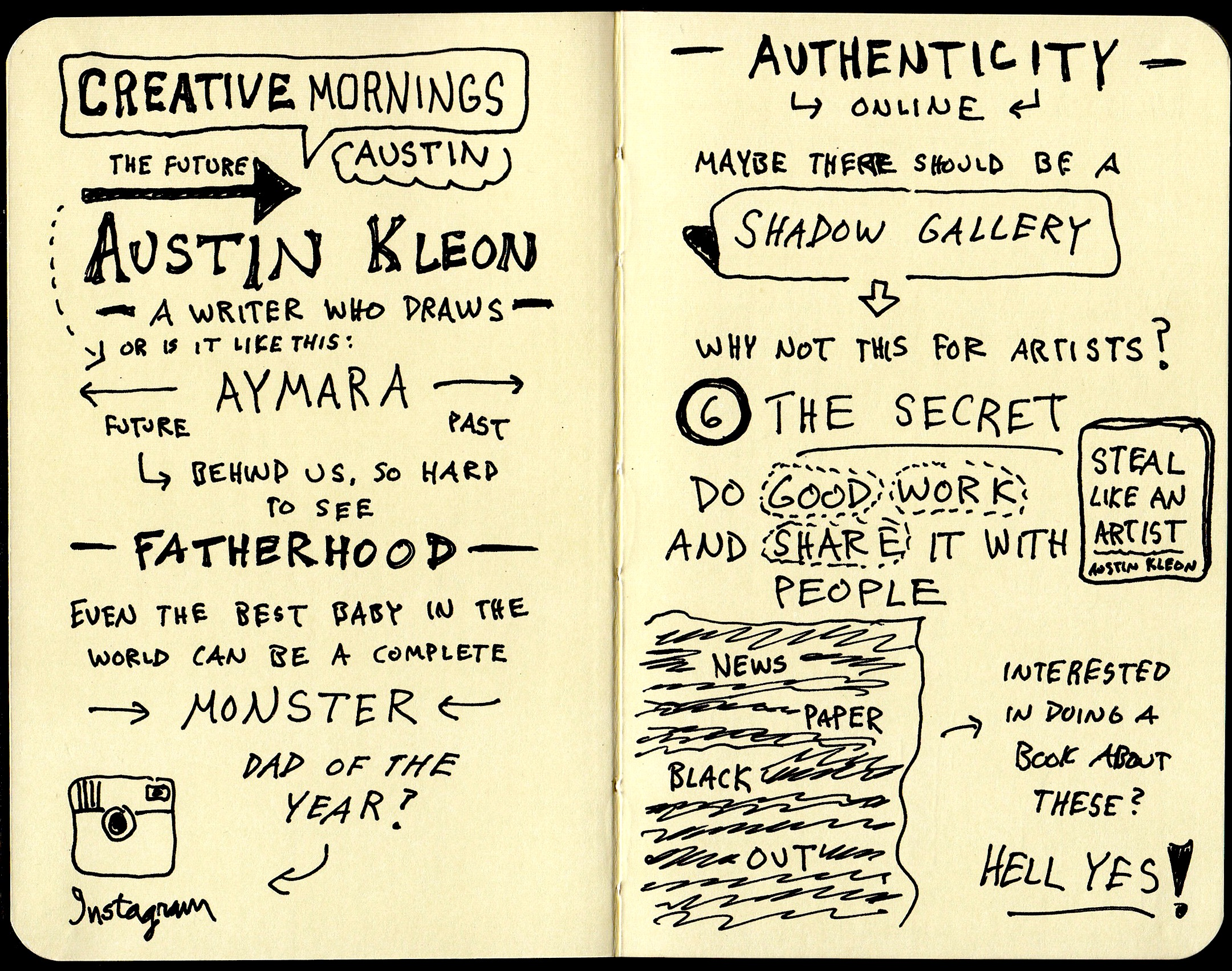 Austin Kleon Sketchnotes (1) Creative Mornings Austin - Doug Neill