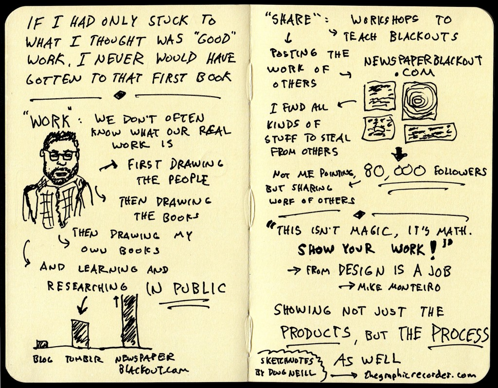 Austin Kleon Sketchnotes (2) Creative Mornings Austin - Doug Neill