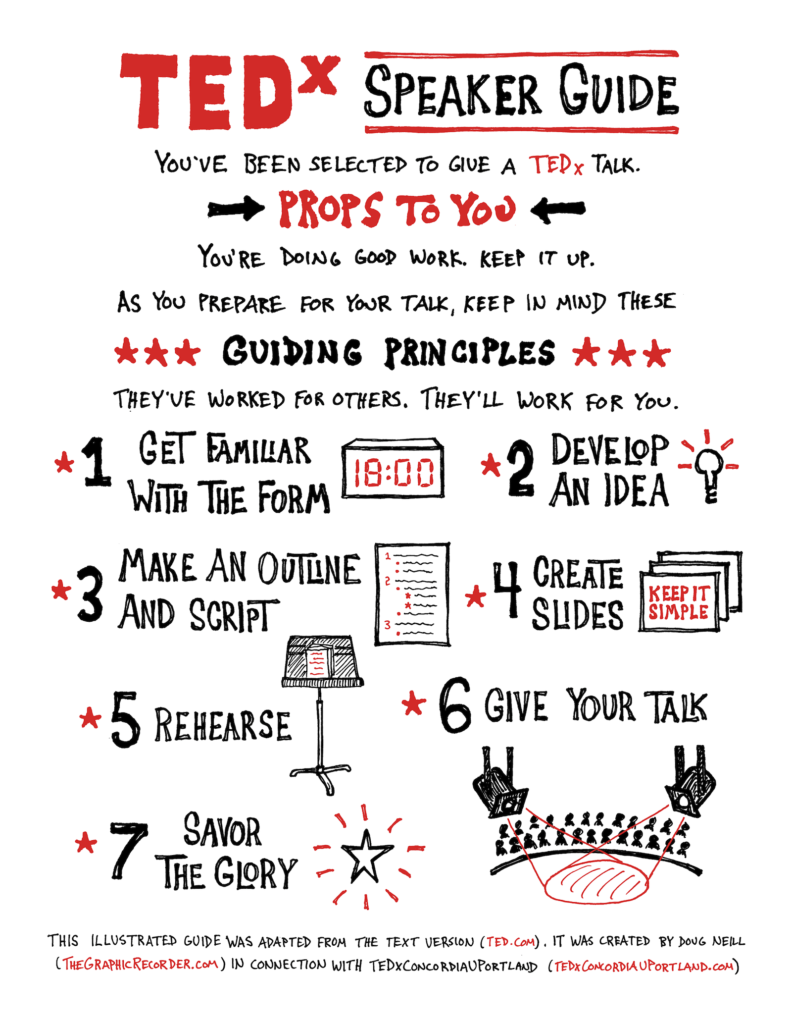 Illustrated TEDx Speaker Guide - Doug Neill