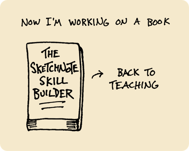 Ten Years of Wandering - My Path Since High School (Doug Neill) 22 - now i'm working on a book, the sketchnote skill builder, back to teaching