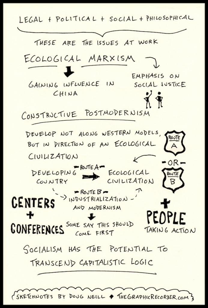 PIELC Sketchnotes - Wen Tiejun and Zhihe Wang Web (3) - Doug Neill, Chine environmentalism, ecological marxism, ecological civilization, socialism, capitalism