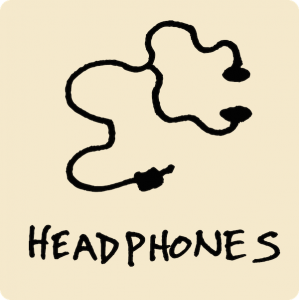 Headphones Visual Vocabulary - sketchnoting visual note taking doodling