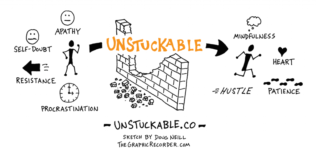 Unstuckable Sketch by Doug Neill