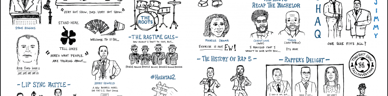 The First Two Weeks Of The Tonight Show With Jimmy Fallon (A Sketchnoted Tribute)