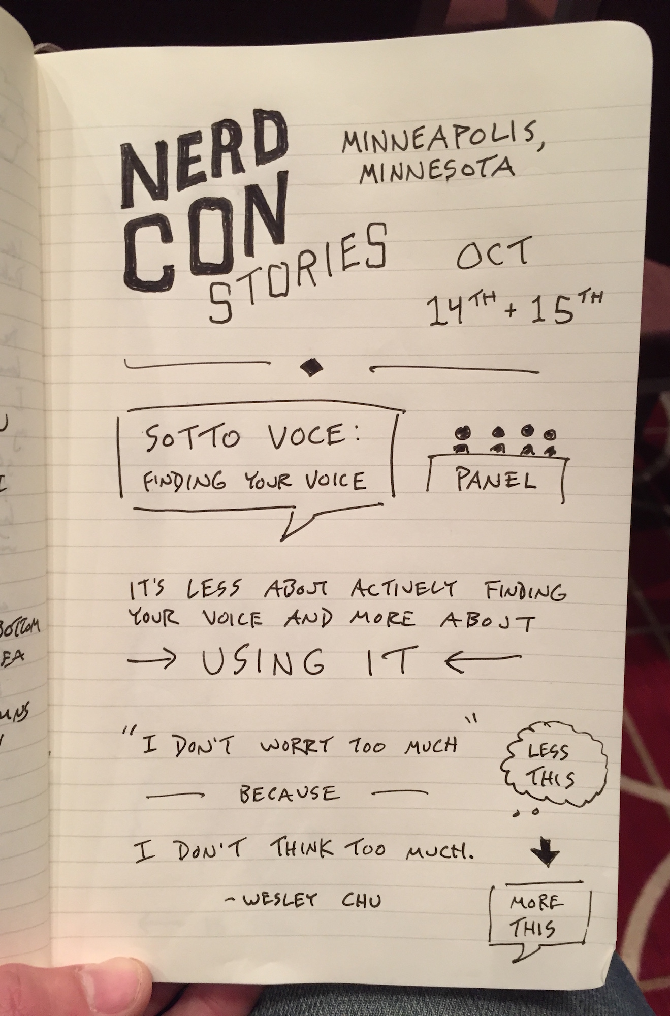 Finding Your Voice (1) - NerdCon: Stories Sketchnotes - Doug Neill