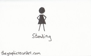 The graphic recorder visual vocabulary figure sketch of a person standing.