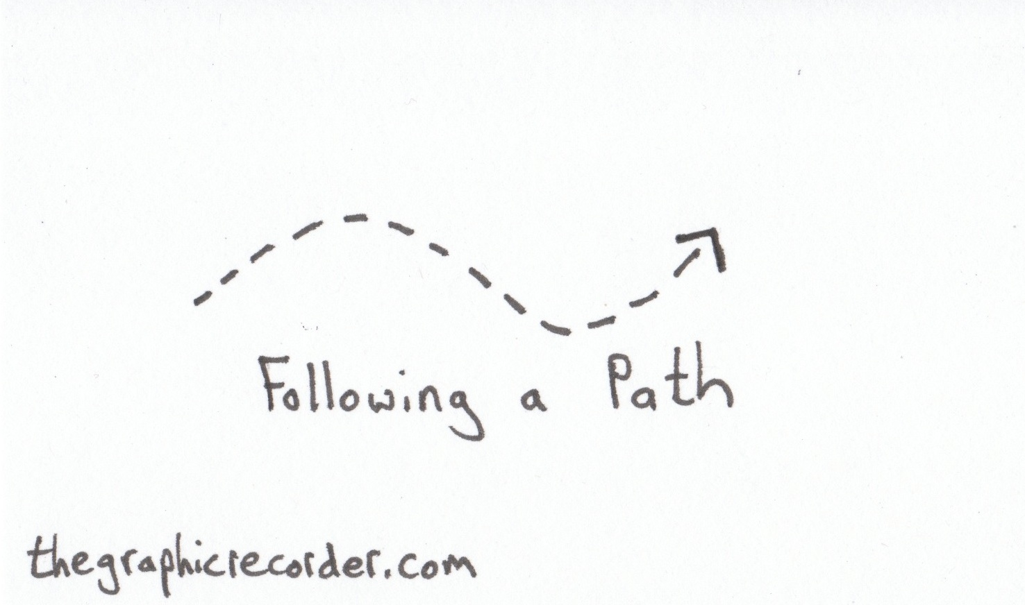 The Graphic Recorder - Visual Vocabulary - Arrows - Following a Path