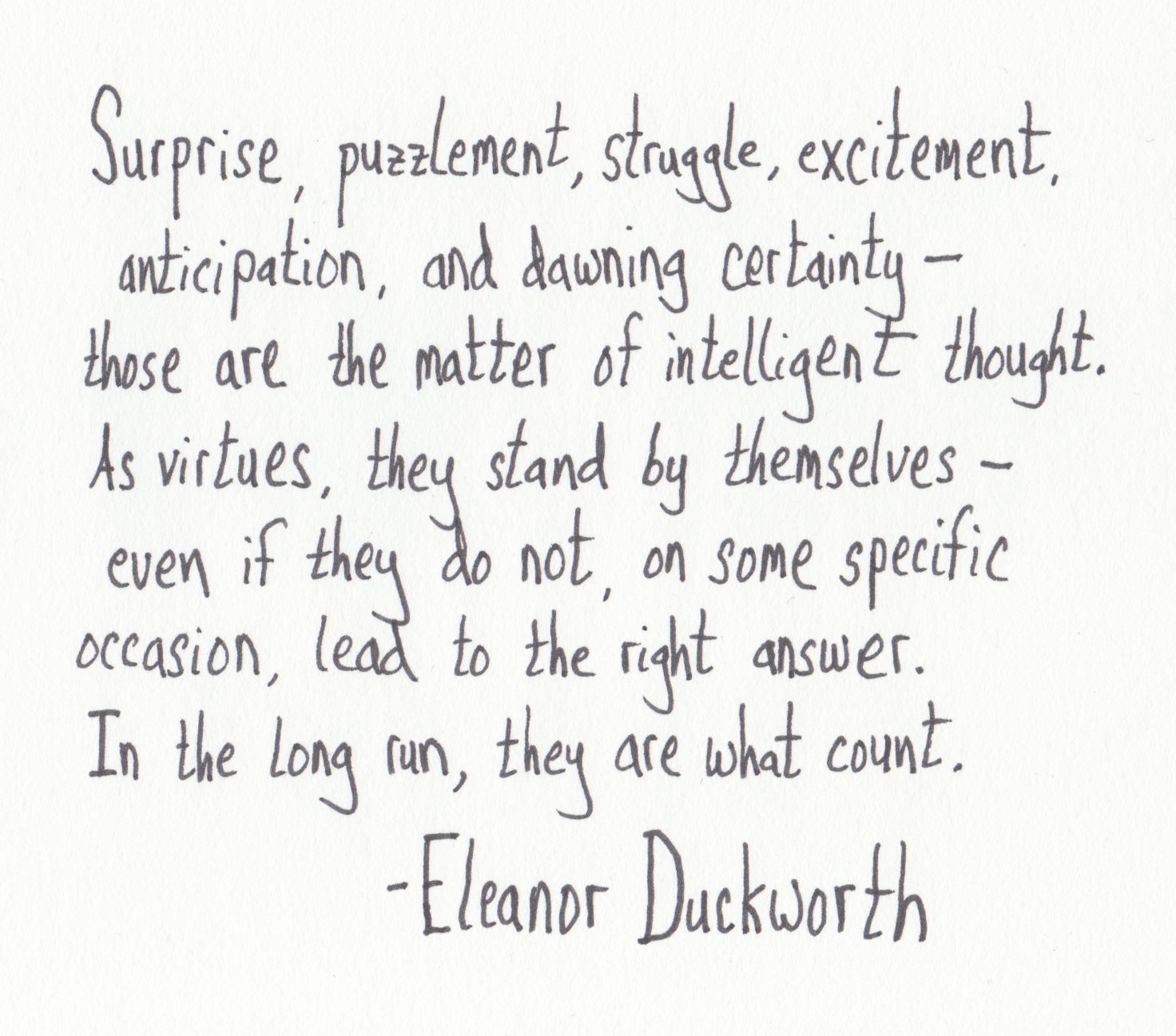 Image result for eleanor duckworth quotes