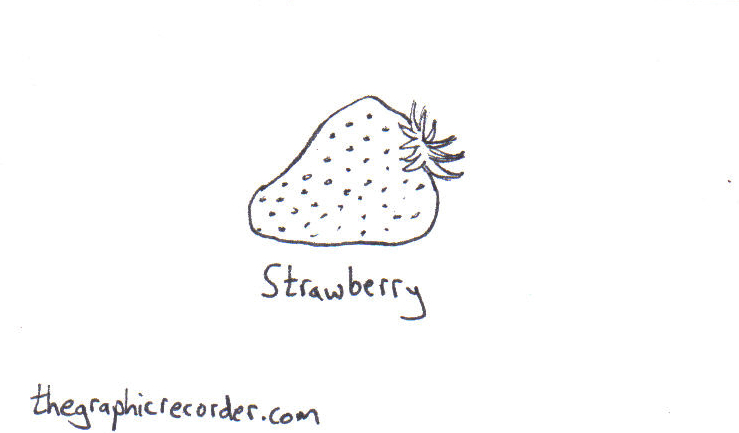 The Graphic Recorder - Visual Vocabulary - Fruit - Strawberry