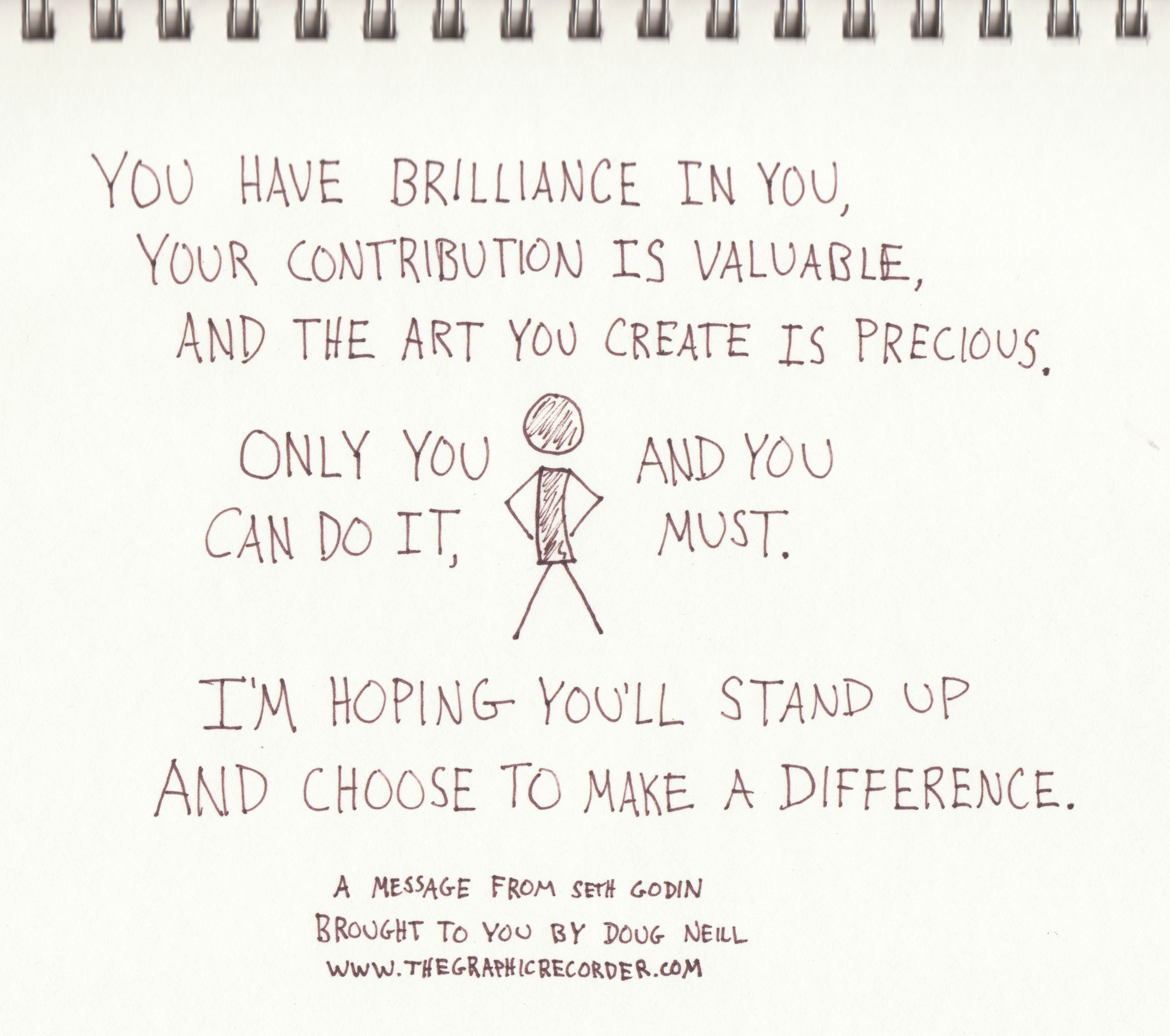 The Graphic Recorder - Doug Neill - You Have Brilliance In You - Seth Godin - Linchpin
