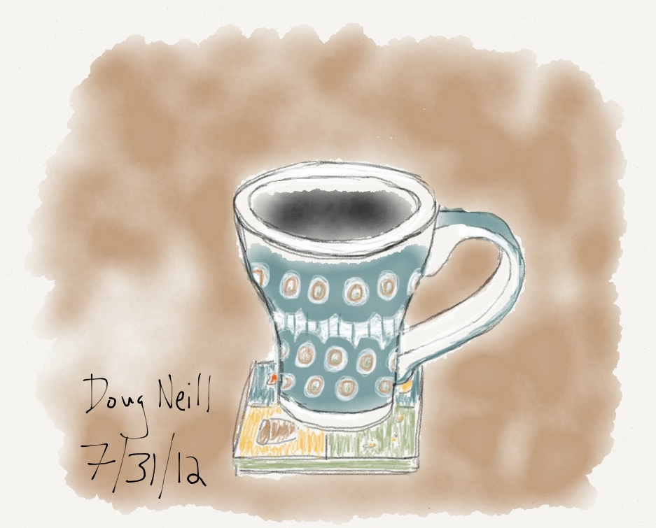 The Graphic Recorder - Doug Neill Sketches - Paper - Fifty Three - Mug, Coffee, and Coaster