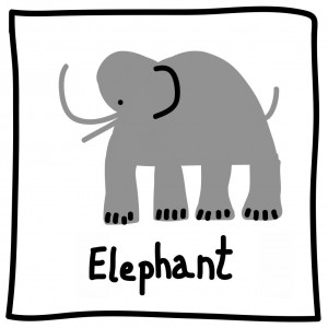 The Graphic Recorder - Visual Vocabulary - Ed Emberley Tribute - Elephant