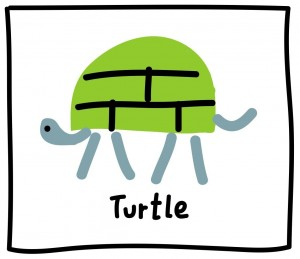 The Graphic Recorder - Visual Vocabulary - Ed Emberley Tribute - Turtle