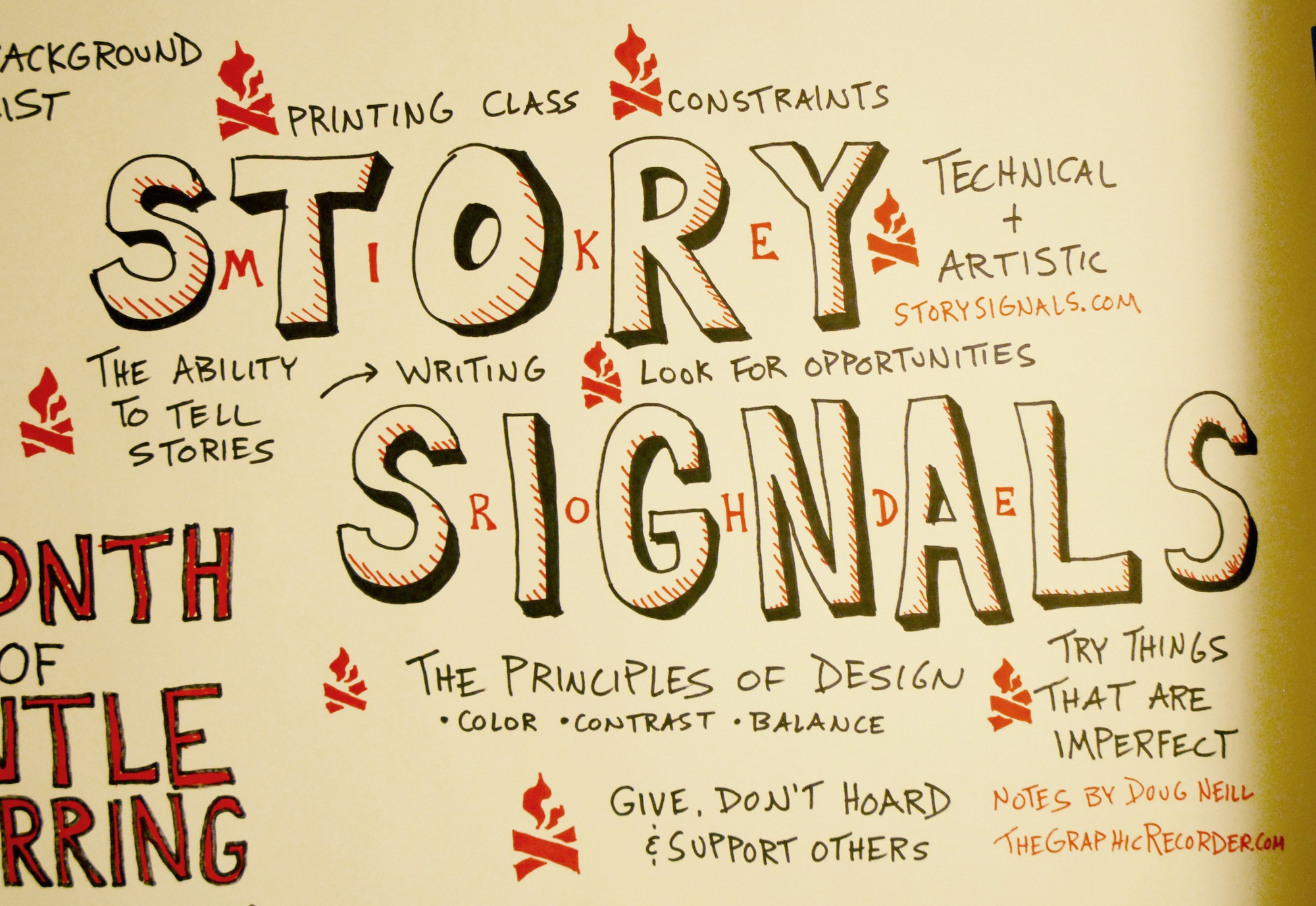 Story Signals Interview with Mike Rohde Graphic Recording - Doug Neill Sketchnotes, design, creative constratins, opportunities, stories, writing, technical + artistic, support others