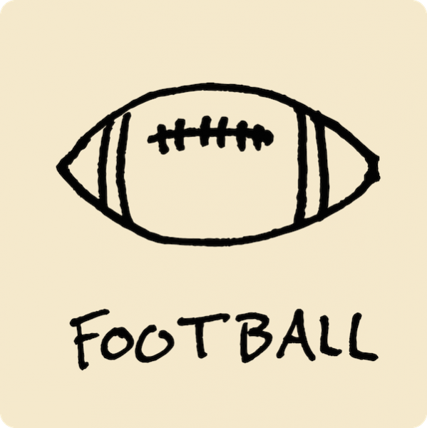 Football Visual Vocabulary - sketchnoting visual note taking doodling
