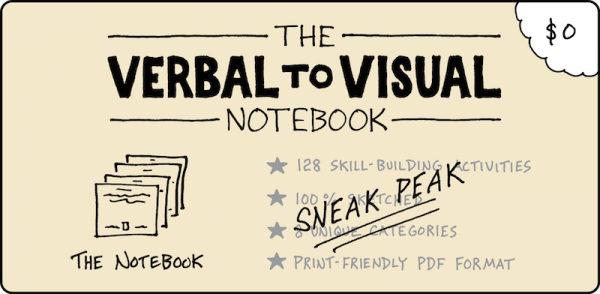 The Verbal To Visual Notebook - Sneak Peak