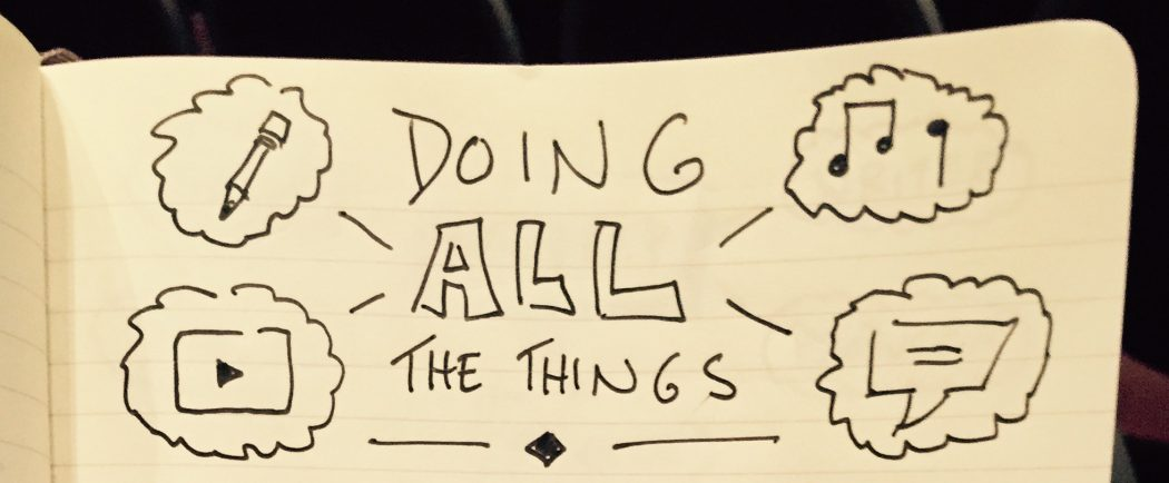 Doing All The Things - NerdCon: Stories 2016 - Doug Neill sketchnotes